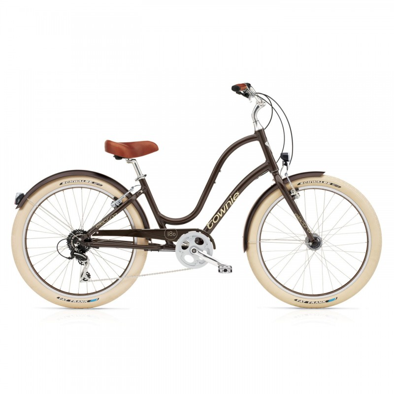 Vélo urbain ELECTRA Townie Balloon 8D Coffee EQ Lights