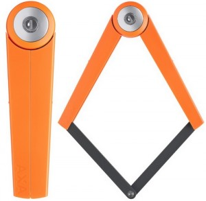 Antivol velo articulé AXA Toucan orange 80 cm