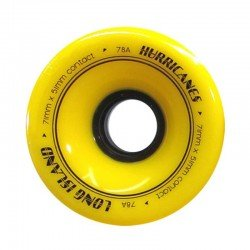 Roues de Longskate LONG ISLAND Hurricanes 71x51mm 78A Yellow