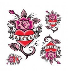 Stickers velo Electra Rose Tatoo