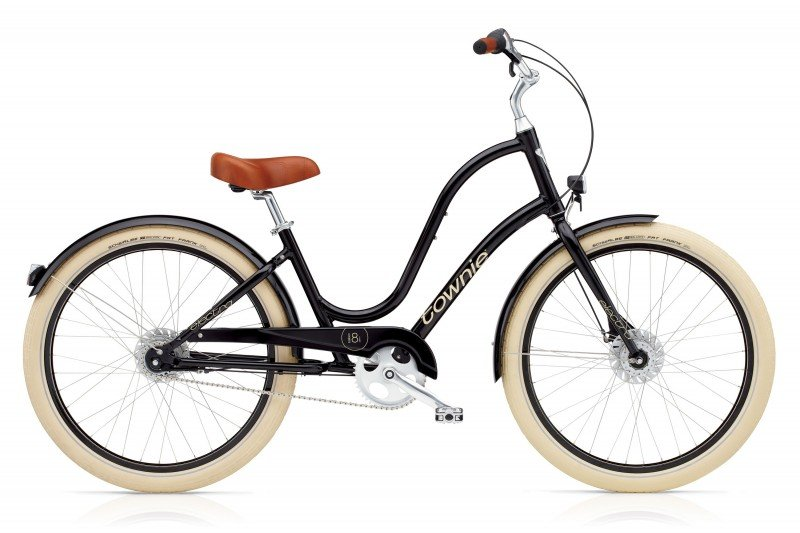 Vélo urbain ELECTRA Townie Balloon 8i Ebony EQ Lights Femme