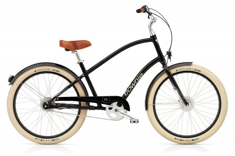 Vélo urbain ELECTRA Townie Balloon 8i Ebony EQ Lights Homme
