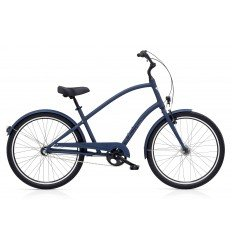 Vélo urbain ELECTRA Townie Original 3i Satin Blue EQ Lights