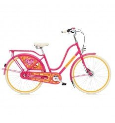 Vélo Hollandais ELECTRA AMSTERDAM 3i Fashion Joyride Rose