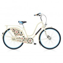 Vélo Hollandais ELECTRA AMSTERDAM 3i Bloom Creme